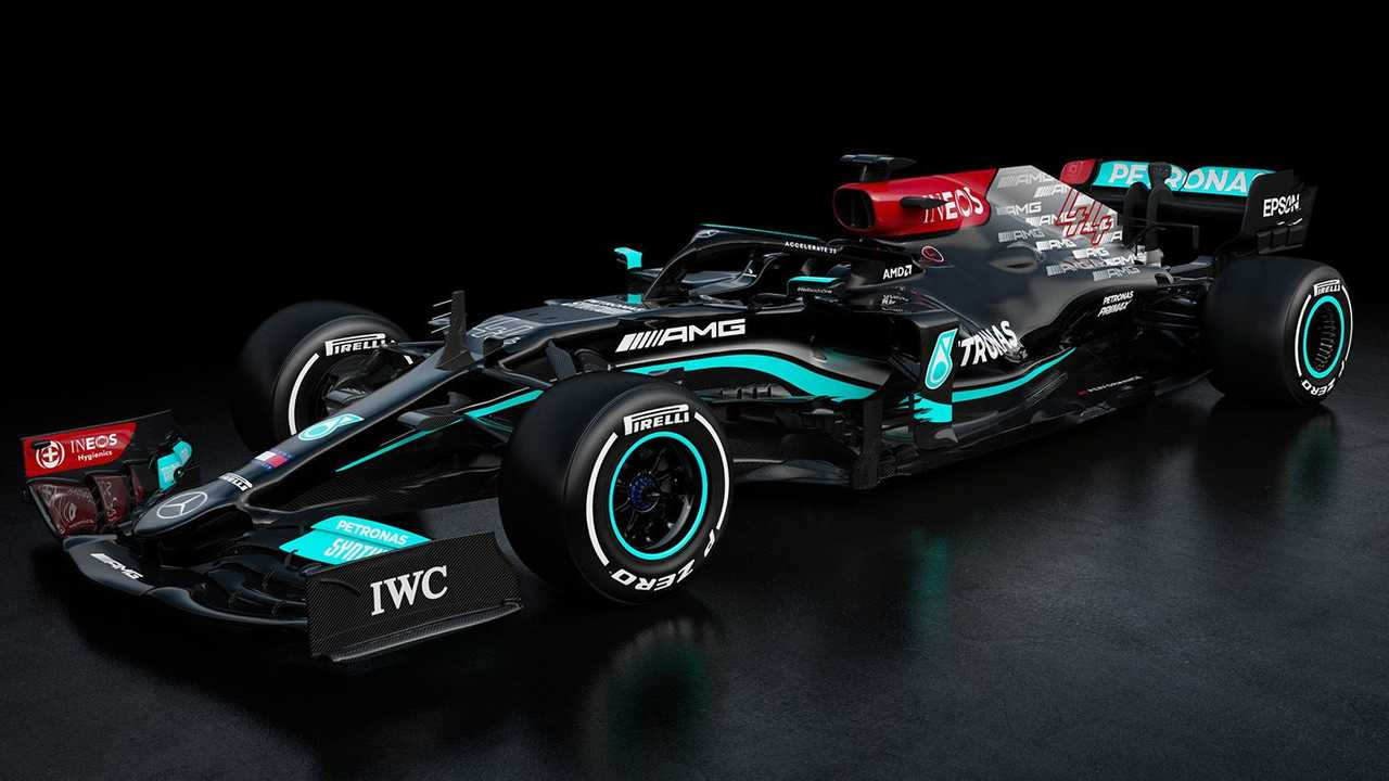 Mercedes AMG F1 W12 front quarter view