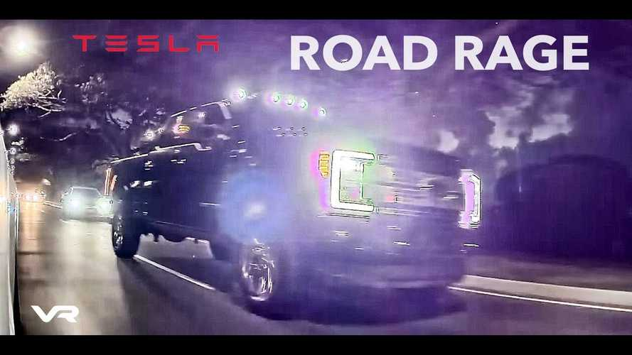 Watch Ford Pickup Truck & Tesla Model Y In Foolish Road-Rage Battle