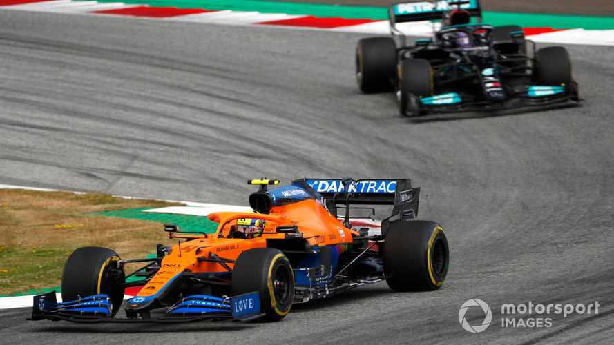 Norris reacts to Hamilton's Austrian GP 'great driver' F1 compliment