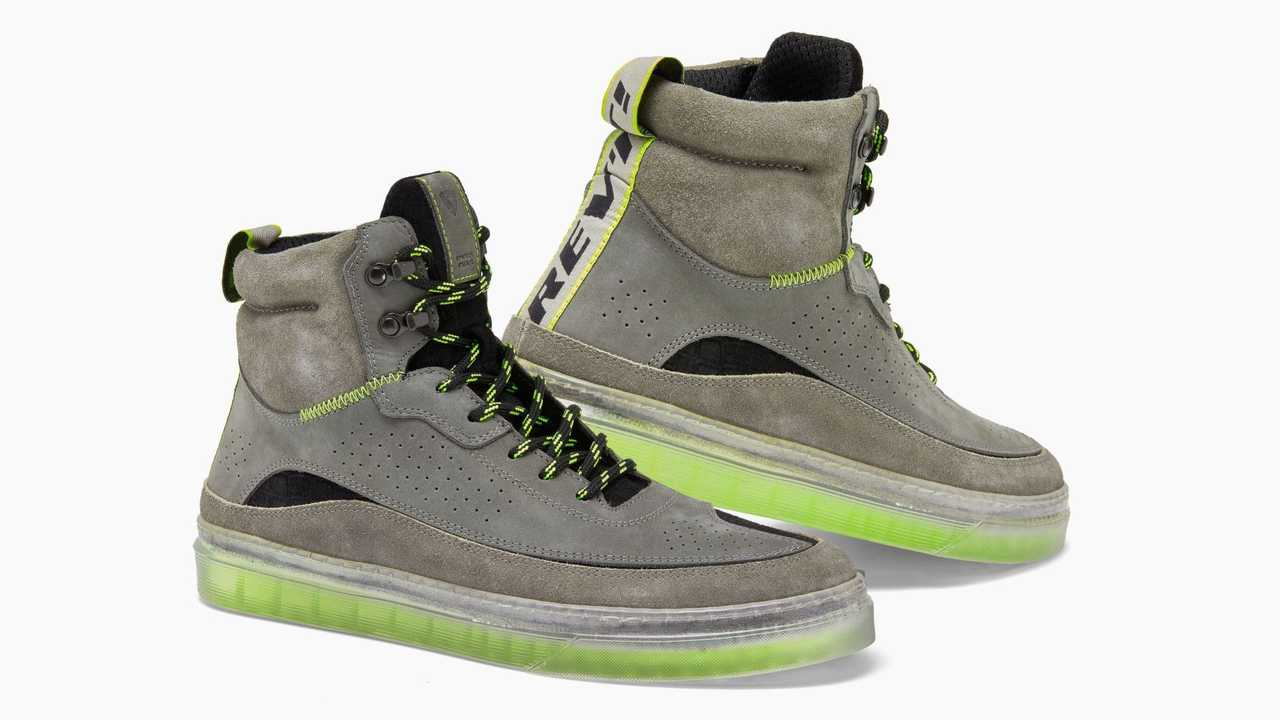 REV'IT! Filter Motorcycle Shoes - Grey and Neon Yellow - Profile