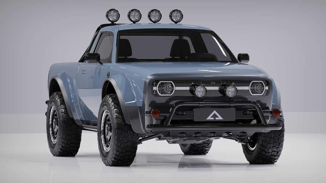 The Alpha Wolf Is An Old-School Looking, Off-Road Electric Truck