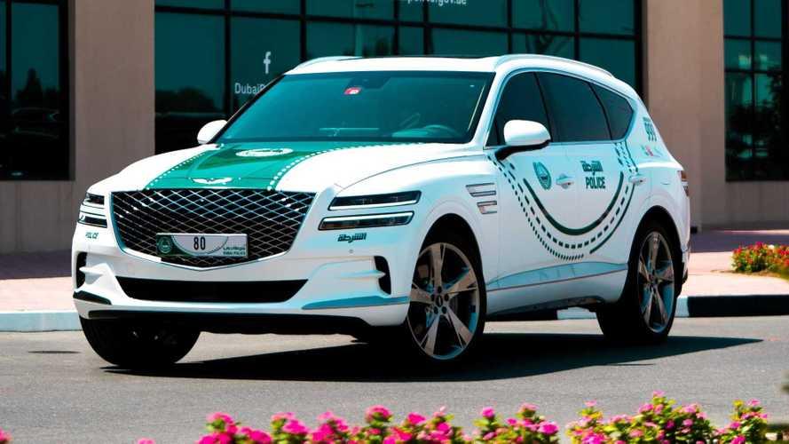 La policía de Dubái estrena un Genesis GV80 como coche patrulla