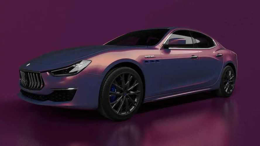 Purple Maserati Ghibli Hybrid Is Rare, Inspired By Street Fashion