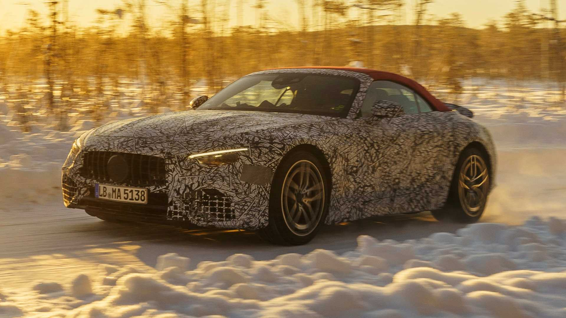 New Mercedes SL Enters Final Round Of Winter Tests - Motor1
