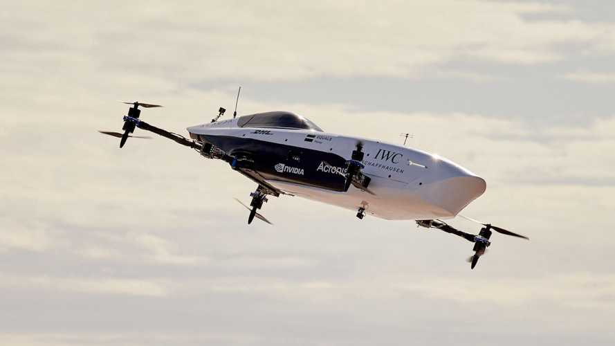 Watch the first flying race car make its maiden flight