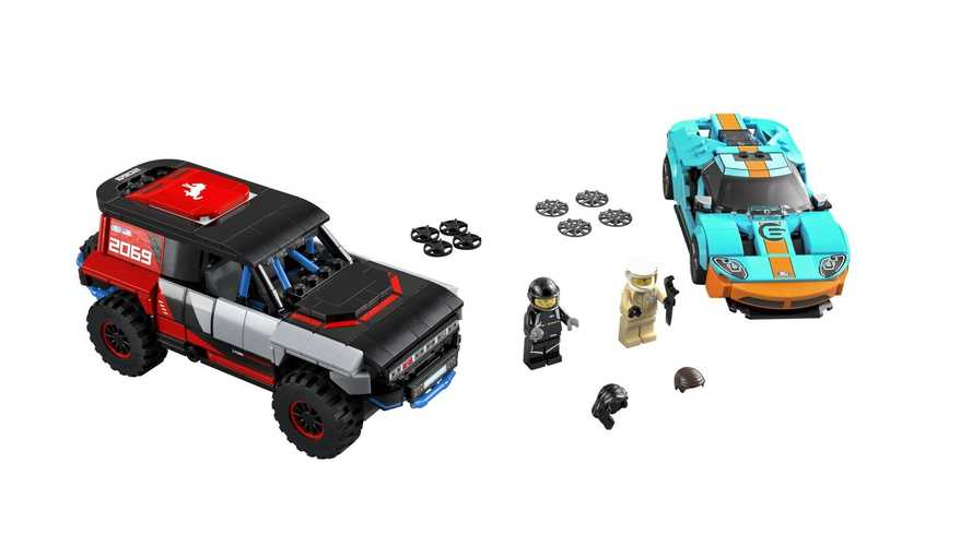 Ford GT Heritage Edition dan Bronco R - Lego