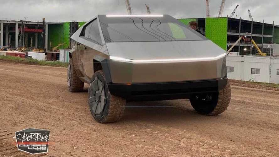 Watch Tesla Cybertruck Get Dirty With Elon Musk In Austin, Texas