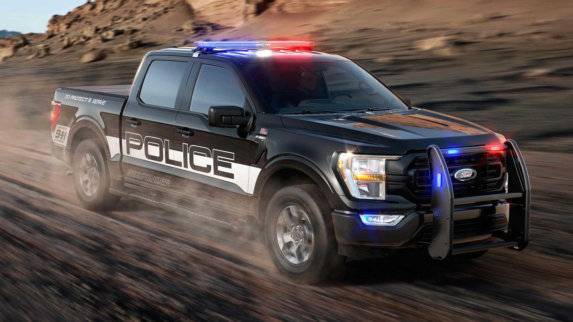 2021 Ford F-150 Police Responder Front View