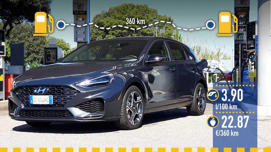 Hyundai i30 1.0 mild hybrid, la prova dei consumi reali