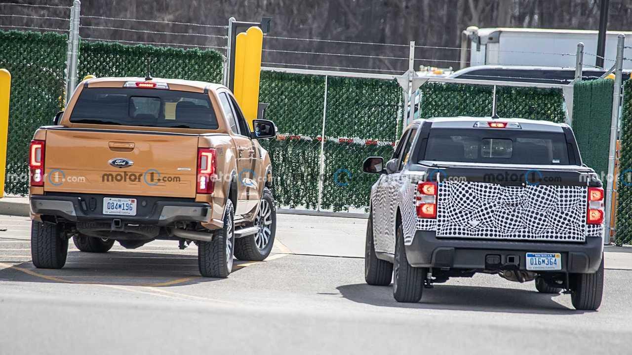 Nova Ford Maverick ao lado da Ranger
