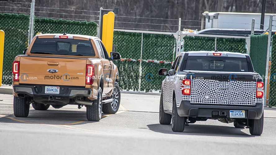 Ford Maverick, Ranger ile yan yana görüntülendi