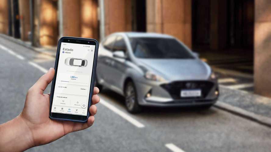 Hyundai lança sistema Bluelink para HB20 com mensalidade de R$ 30