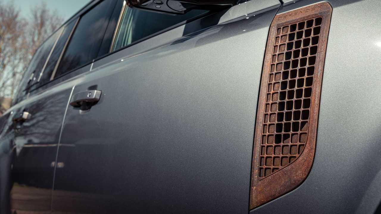 Rostige Anbauteile für den neuen Land Rover Defender
