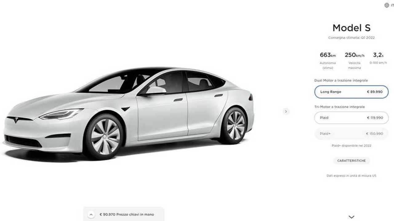 Il configuratore italiano della Tesla Model S