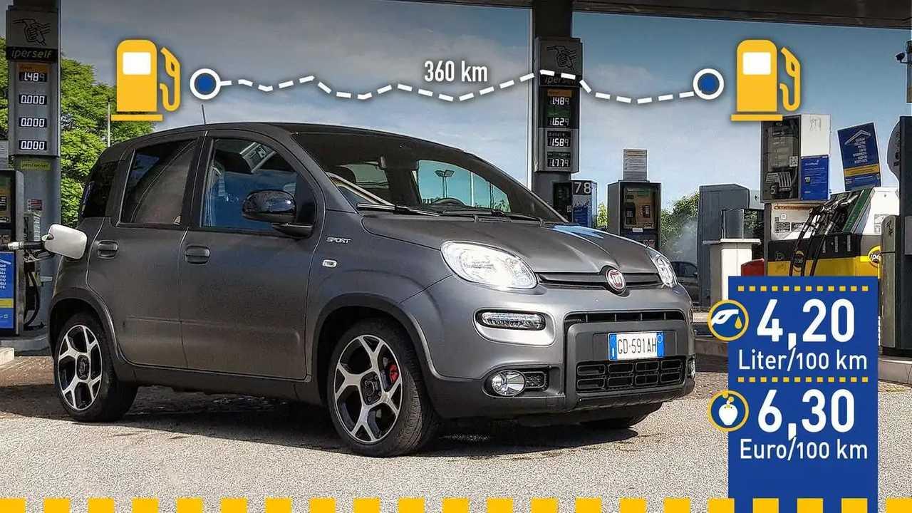 Fiat Panda Sport Hybrid im Verbrauchstest