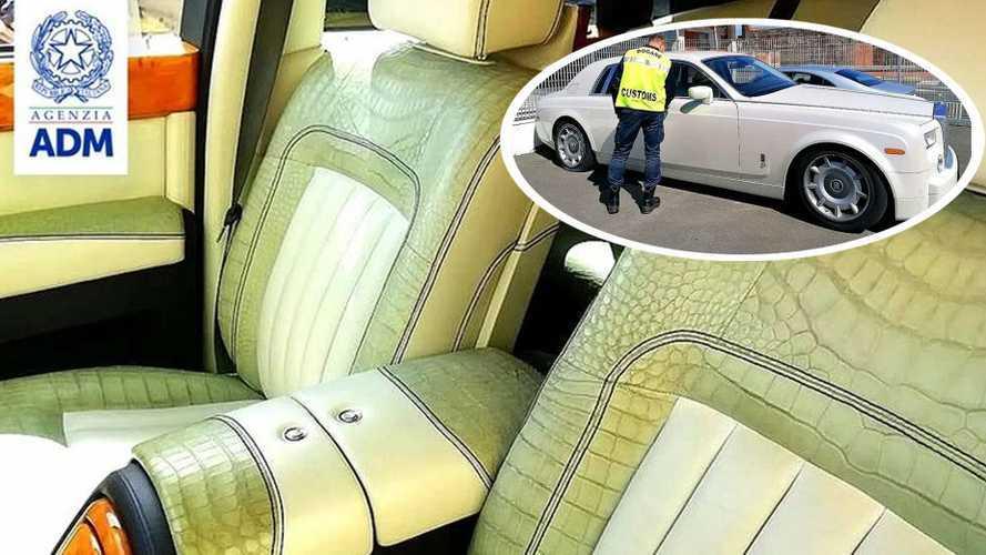Krokodilbőr üléshuzata miatt foglaltak le egy Rolls-Royce Phantomot Olaszországban