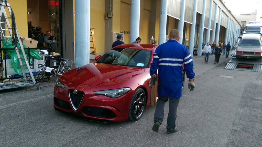 Striking red Alfa Romeo Giulia QV photographed