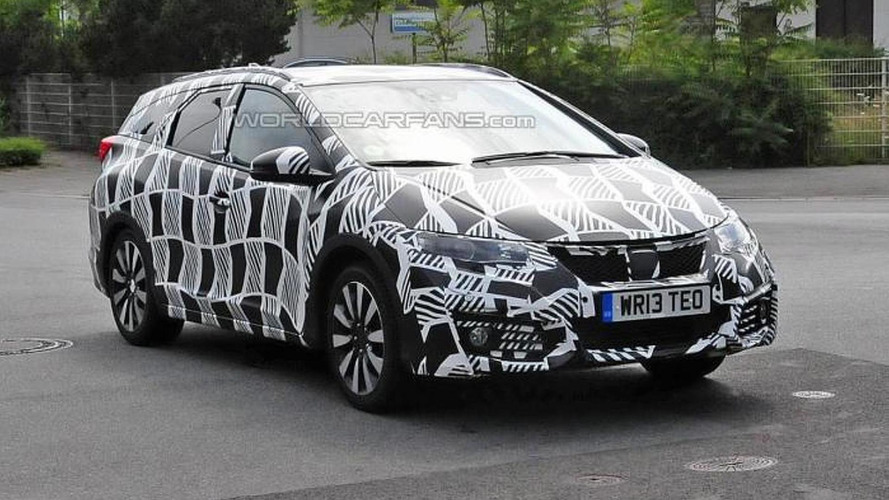 Spy shots show Honda already preparing facelift for Civic Tourer