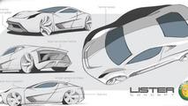 Lister hypercar design sketch