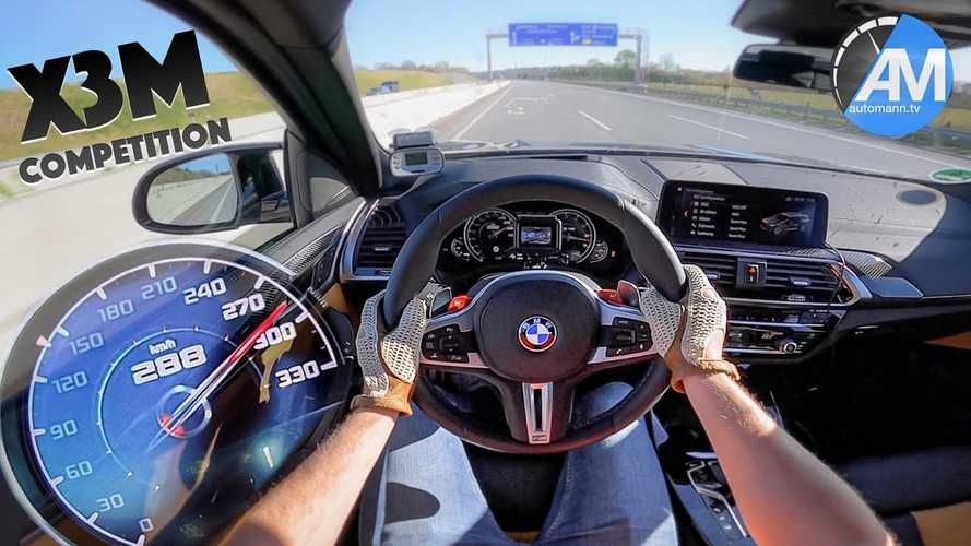BMW X3 M Competition on Autobahn