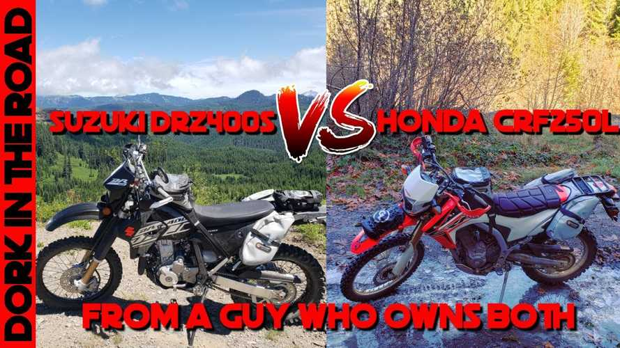 Watch This Guy Compare A Honda CRF250L And A Suzuki DR-Z400S