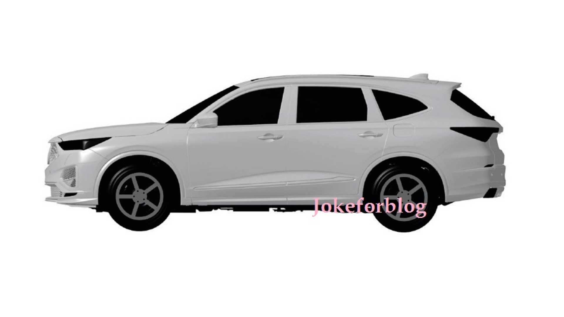 2021 Acura Mdx Leaked Again This Time In Patent Images