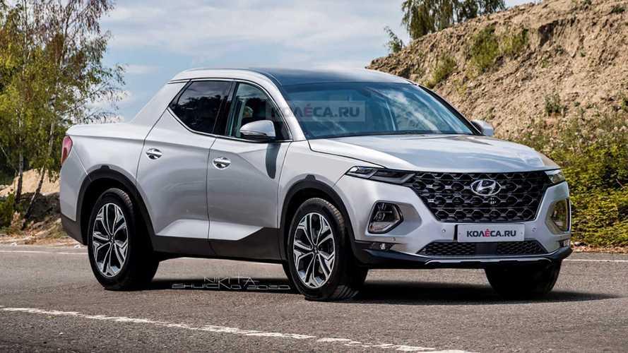 Hyundai'nin pick-up modeli Santa Cruz yüksek ihtimalle böyle görünecek