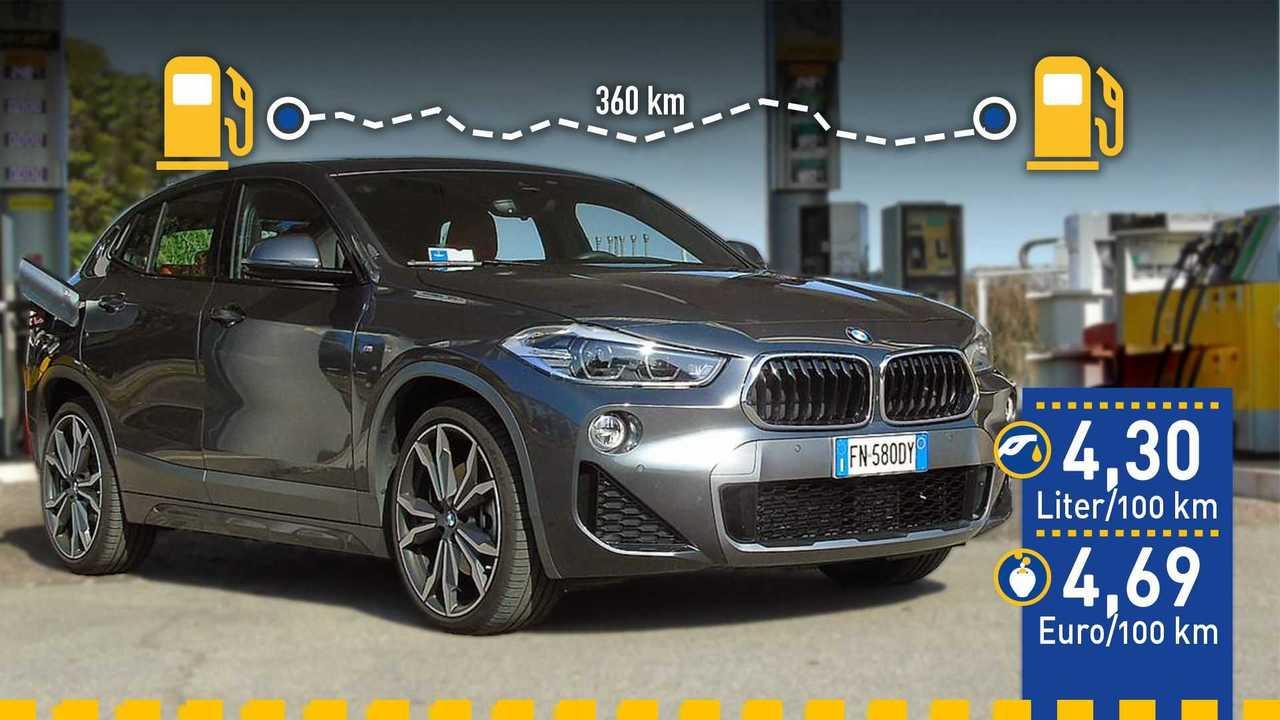 BMW X2 xDrive 25d (2020) im Verbrauchstest