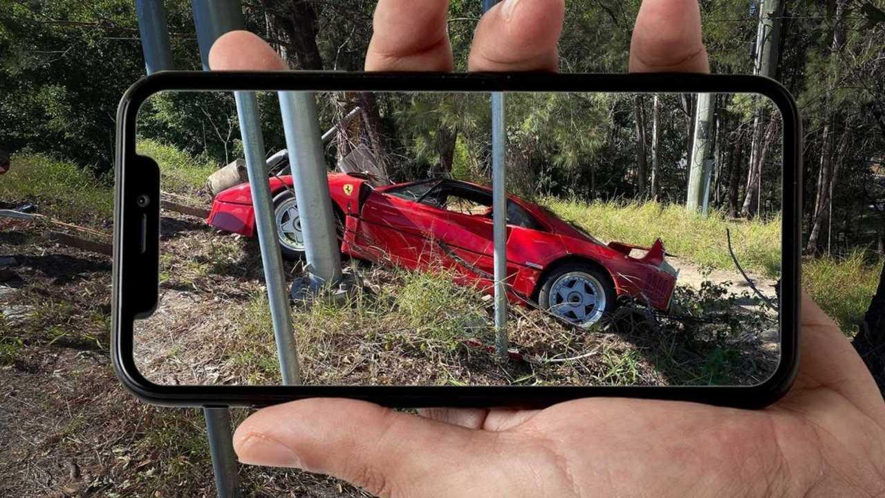 Accident Ferrari F40
