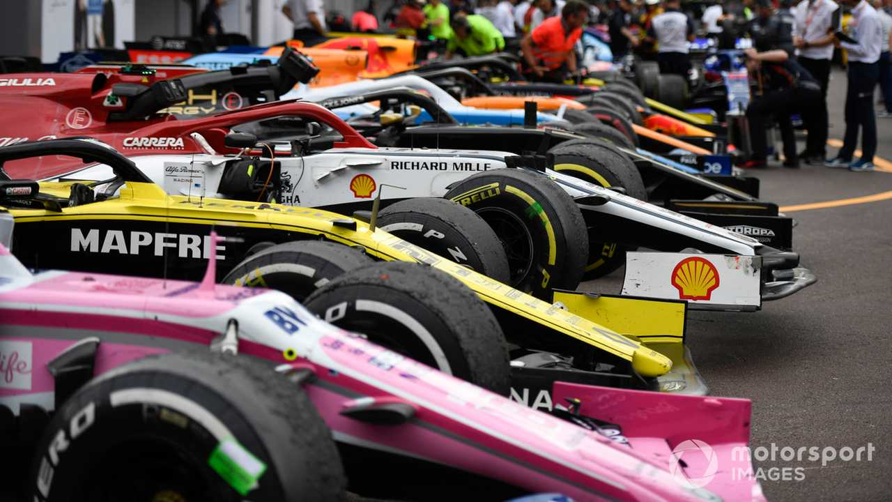 Cars in Parc Ferme at Monaco GP 2019