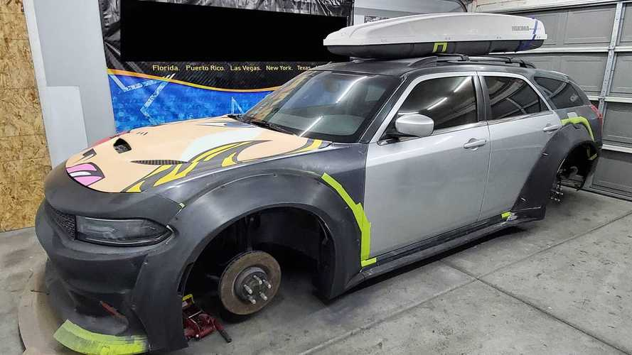 Dodge Magnum Morphs Into Charger Hellcat Widebody Wagon With A Bodykit