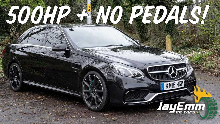 How to drive a Mercedes-AMG E63 without using pedals