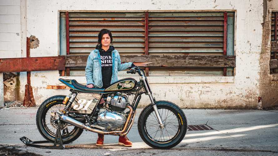Jillian Deschenes' Build Train Race Royal Enfield INT 650