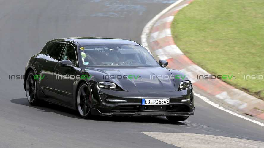 Porsche Taycan Cross Turismo Snapped Testing Hard On The Nurburgring