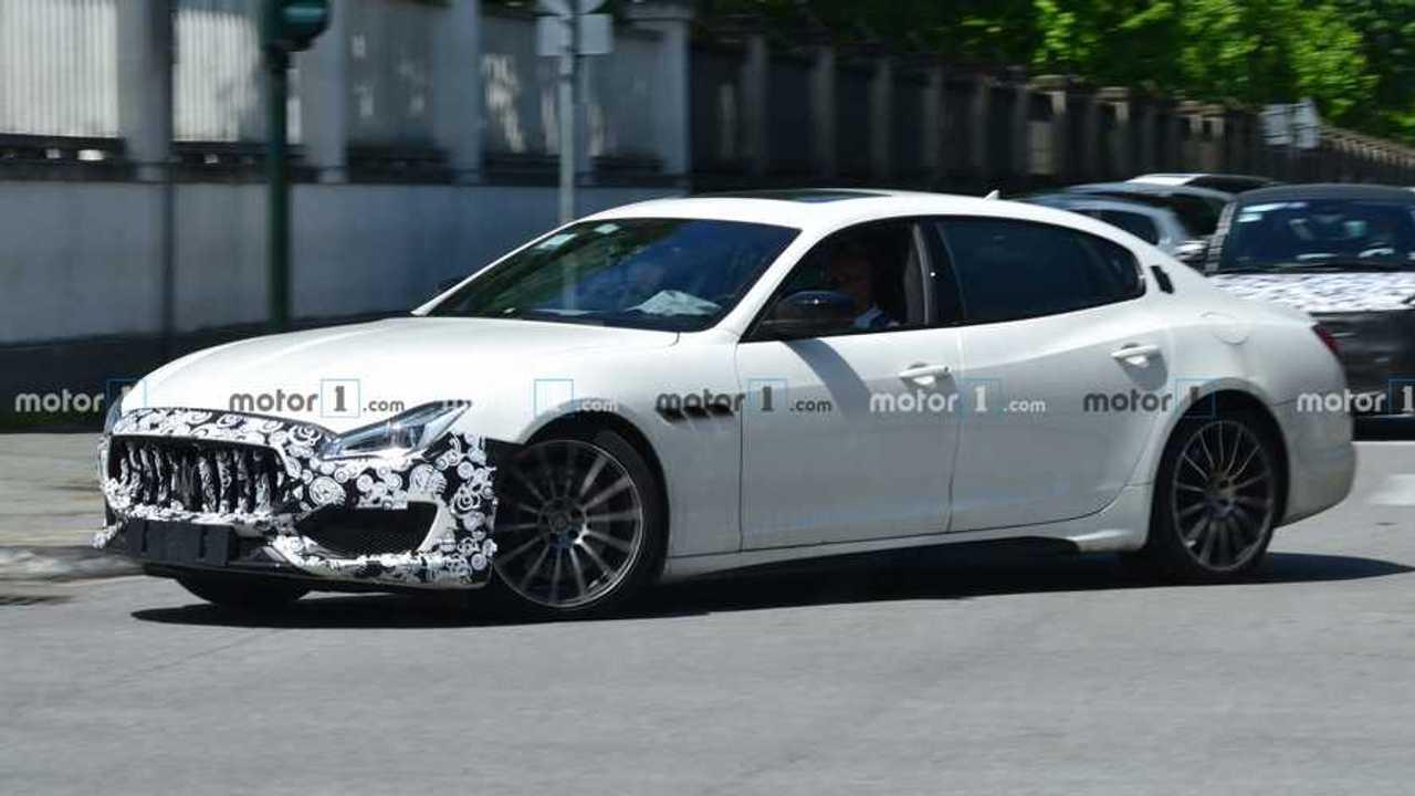 Maserati Quattroporte Refresh Spy Shots Front Three Quarters