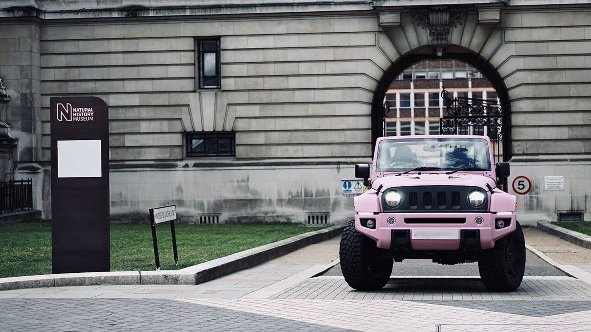 Modified Jeep Wrangler Is Pretty In Pink And Could Be Yours