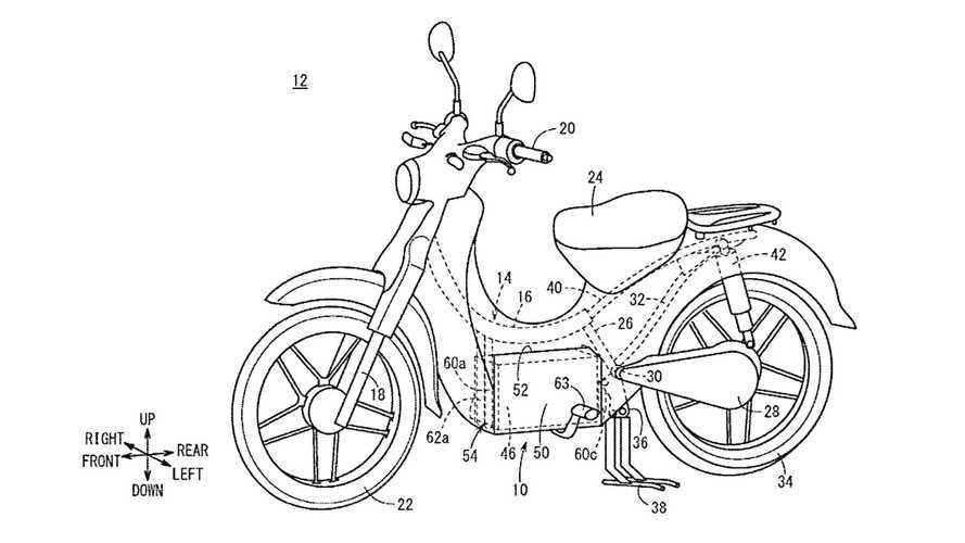 Honda Electric Super Cub Patent Designs