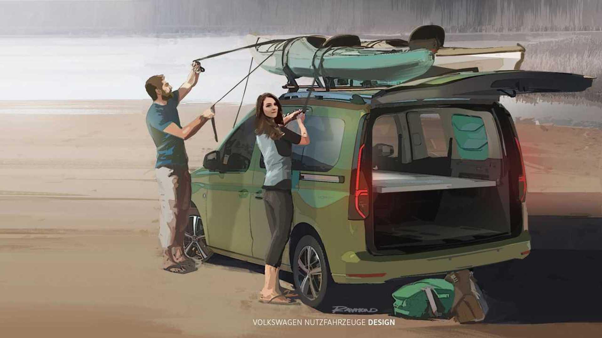 VW Caddy Mini Camper teased as pint-sized motorhome
