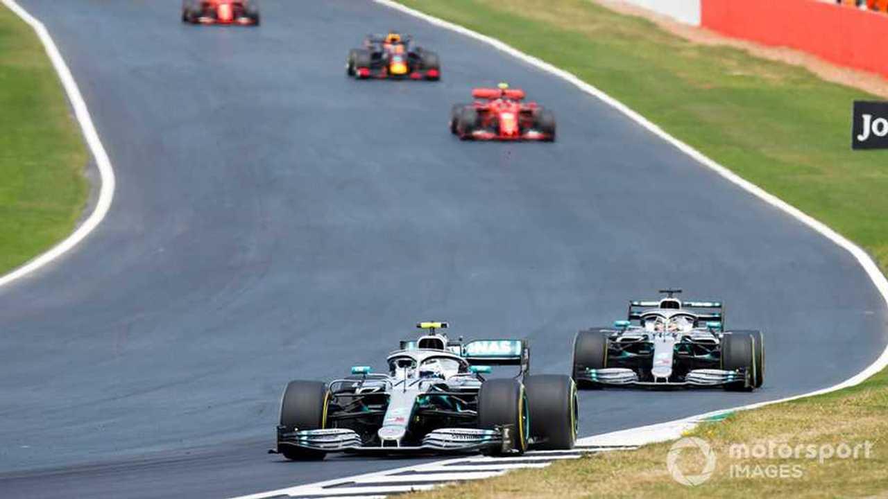 Valtteri Bottas leads Lewis Hamilton at British GP 2019