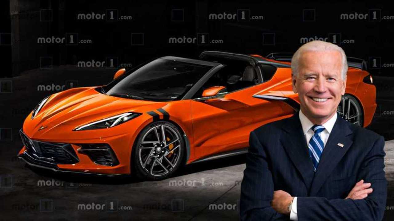 Joe Biden parla della Corvette elettrica