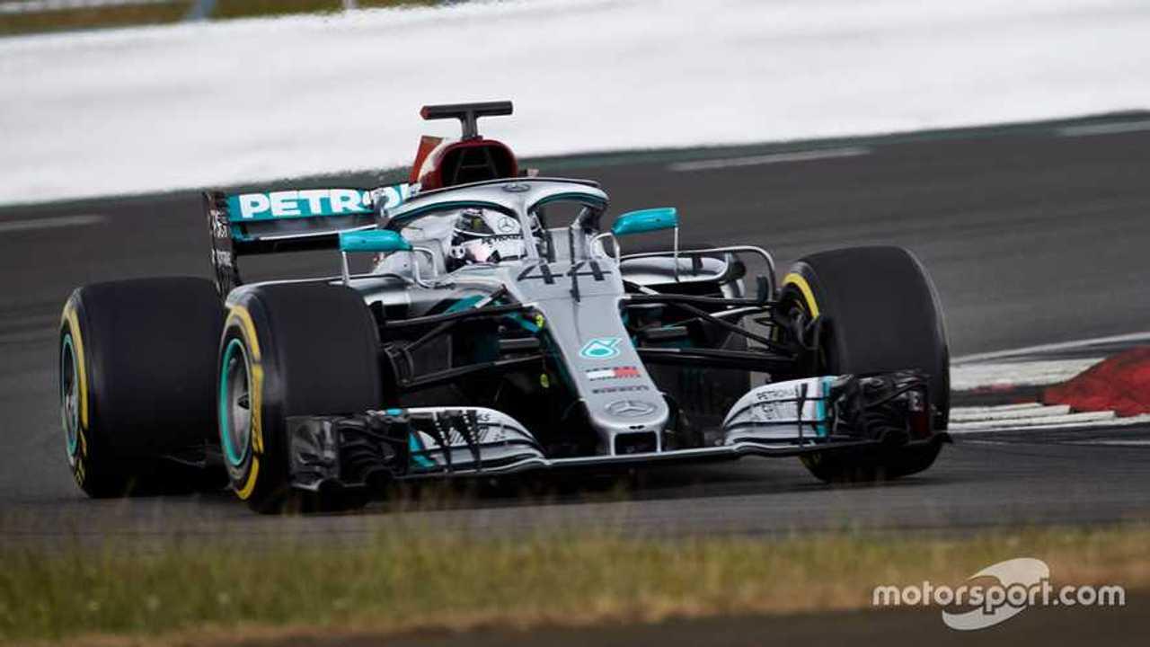 Lewis Hamilton at Silverstone June 2020 testing