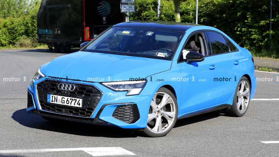 New Audi S3 spied with no camouflage in saloon, hatch variants