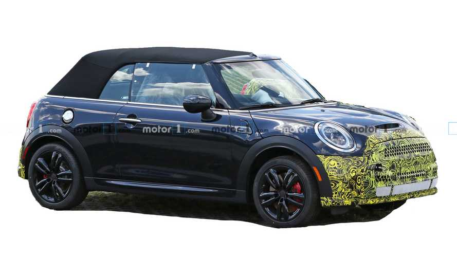 Mini Cooper Convertible Spied Hiding Its Mild Facelift