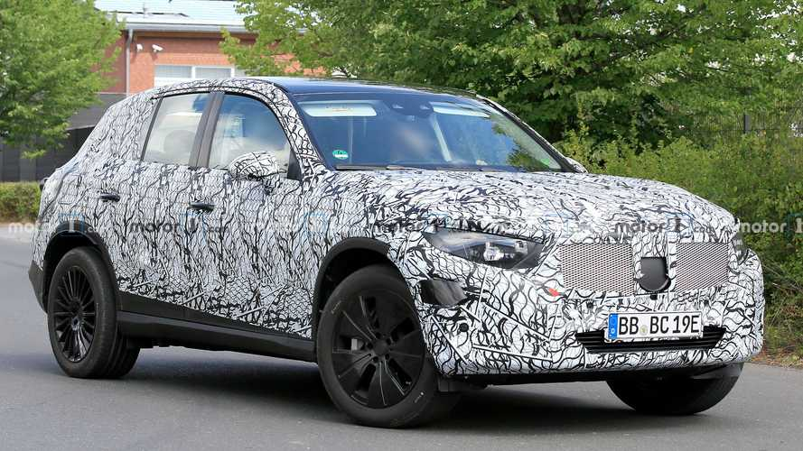 2022 Mercedes GLC Spied Still Covered In Camouflage