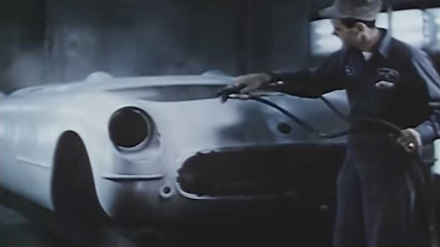 Watch Old Video Of 1953 Corvette Being Hand Built On The Line