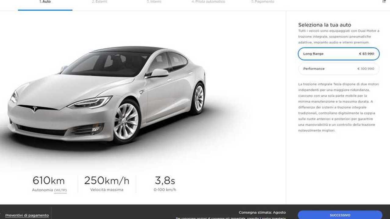 Tesla, tagli al listino della Model S