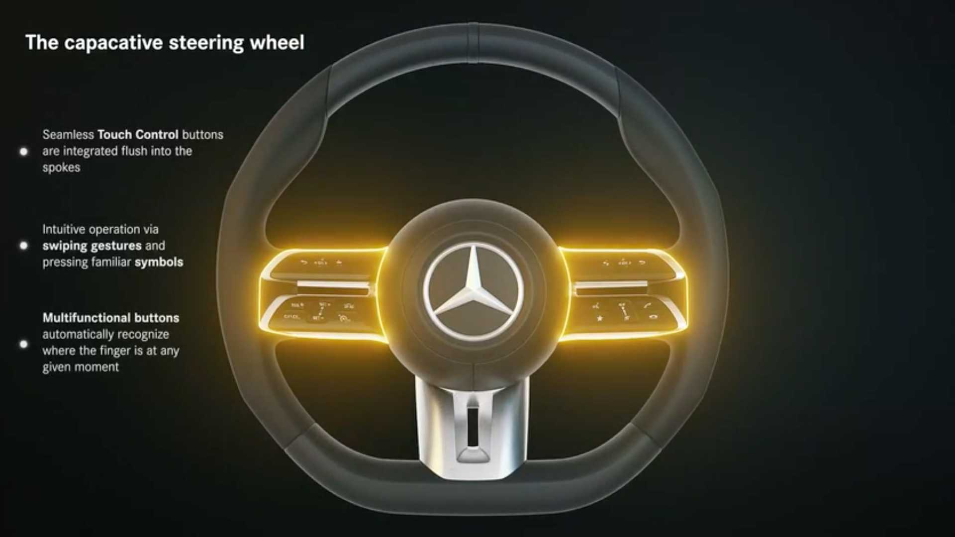 Mercedes E-Class Coupe, Cabriolet Capacitive Steering Wheel Detailed