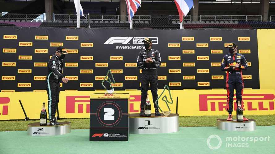 Radio controlled podium robots 'weird', says Hamilton