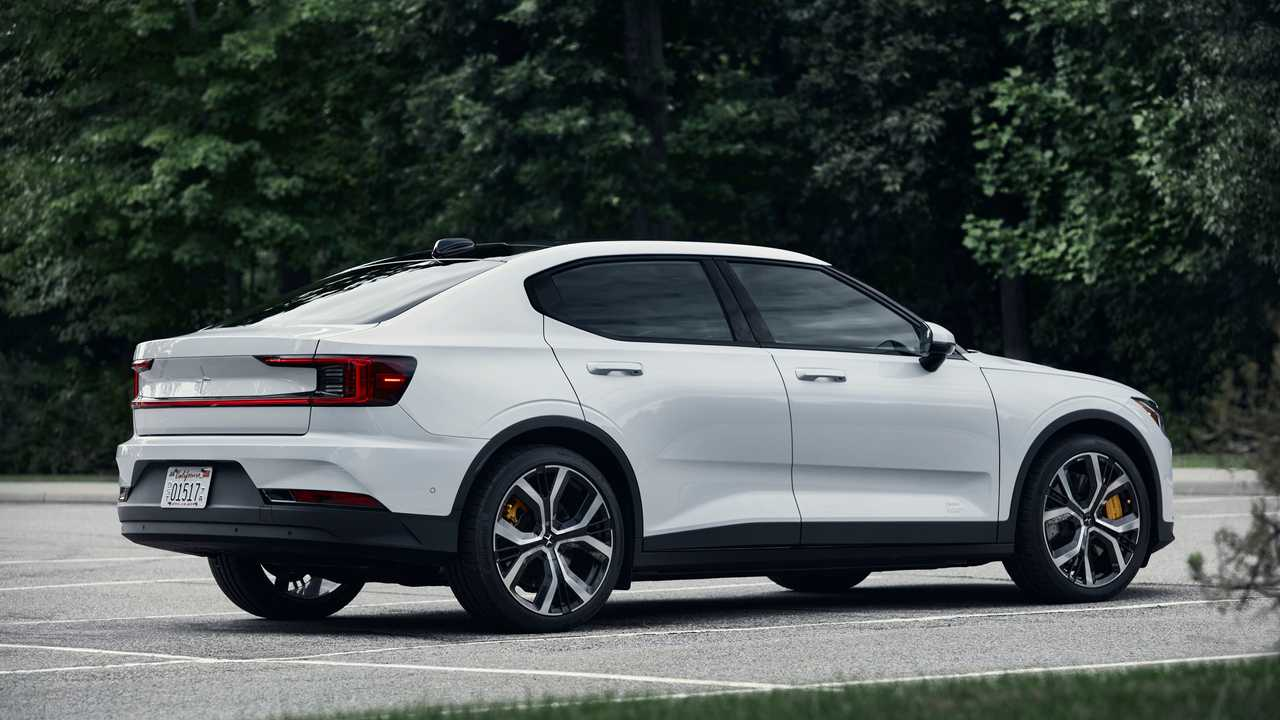 2021 Polestar 2 rear quarter static