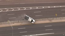Chevy Truck Rolled During Police Chase